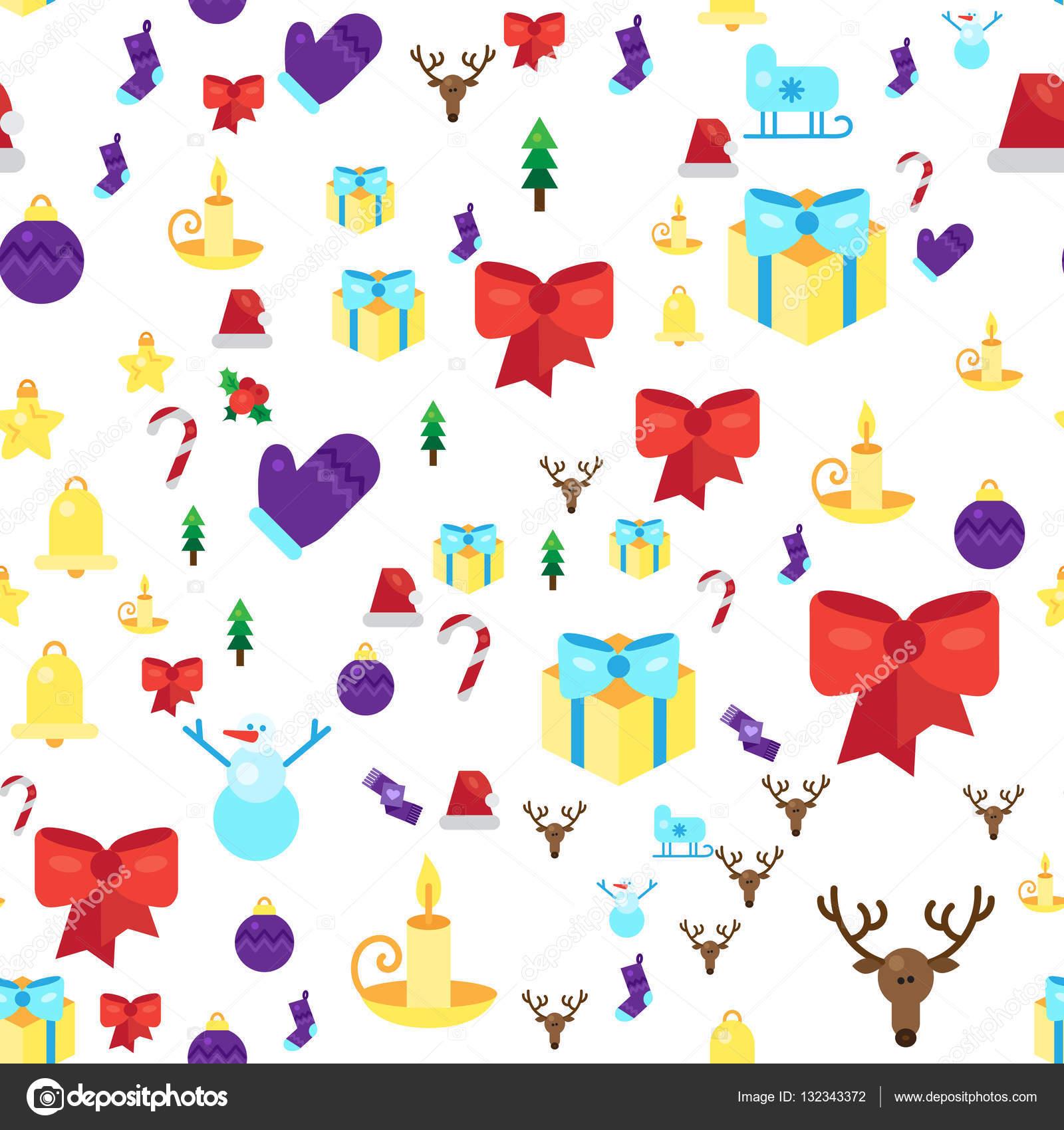 patrones sin fisuras de feliz Navidad — Archivo Imágenes Vectoriales ...