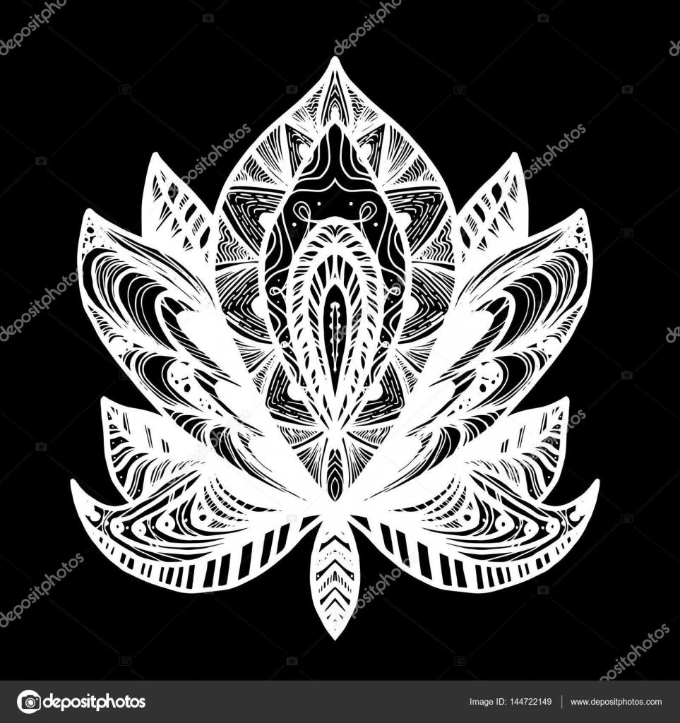 fleur lotus tattoo image vectorielle barsrsind 144722149. Black Bedroom Furniture Sets. Home Design Ideas