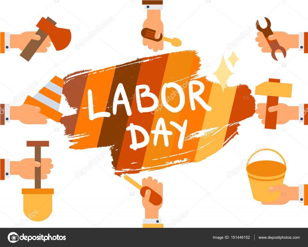Labor Day 1 May Stock Vector C Barsrsind 151446152