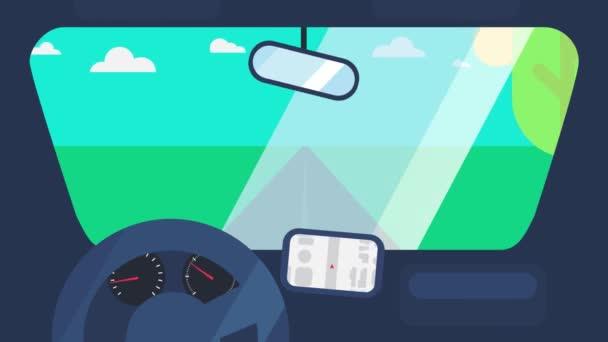 Jízda na auto animace