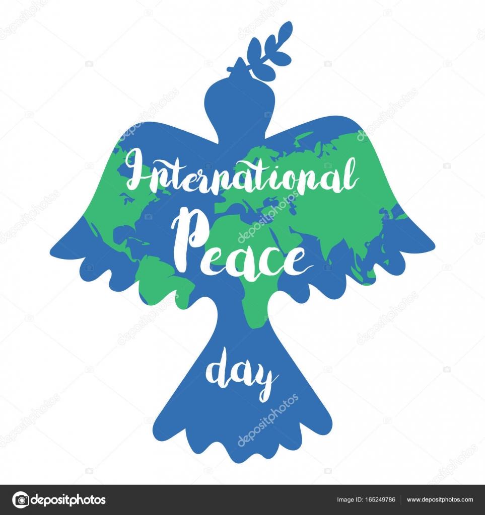 国際平和デー — ストックベクタ...