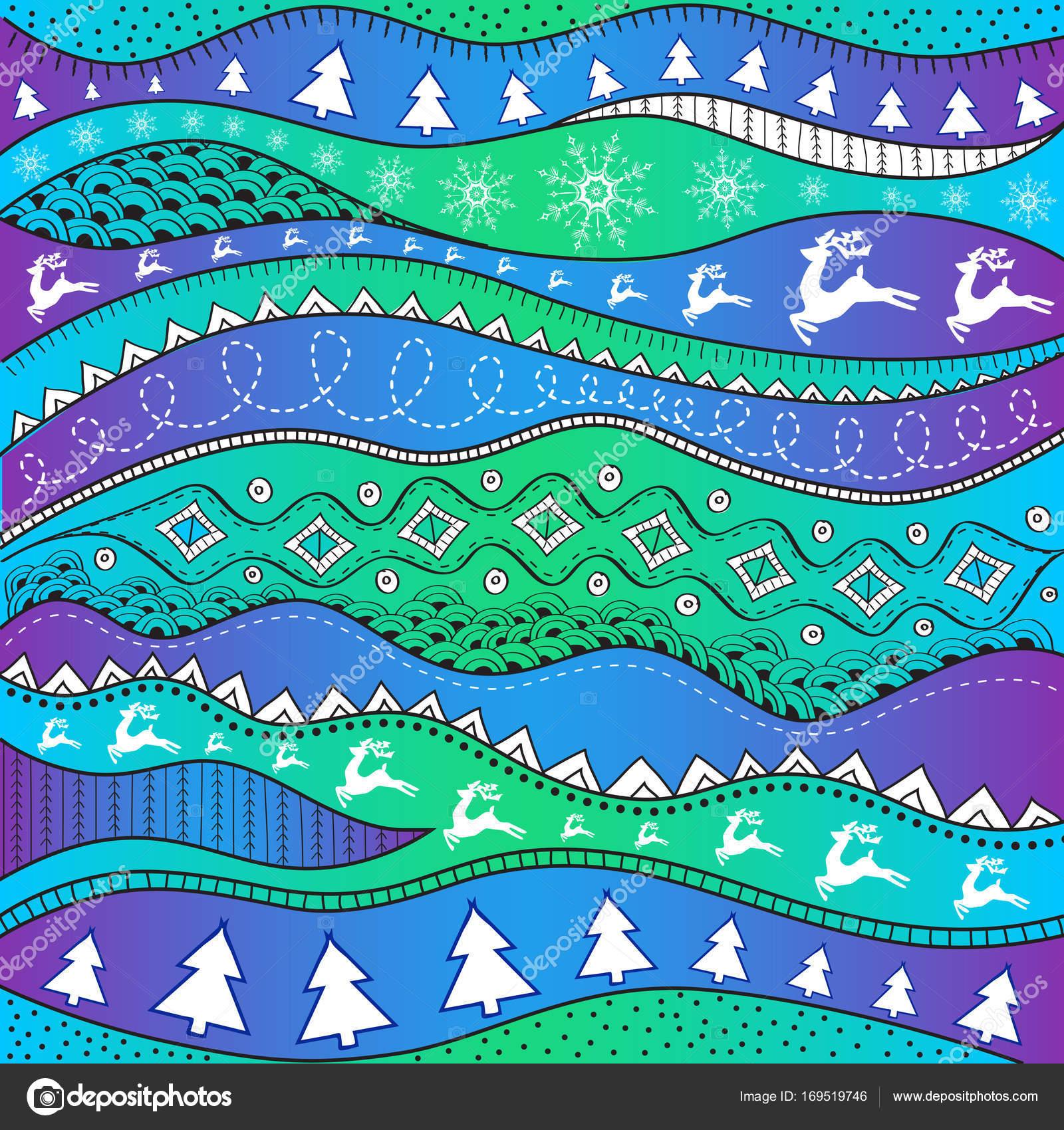 Hintergrundbilder Frohe Weihnachten.Weihnachten Handgemalte Ethno Muster Stammes Hintergrund