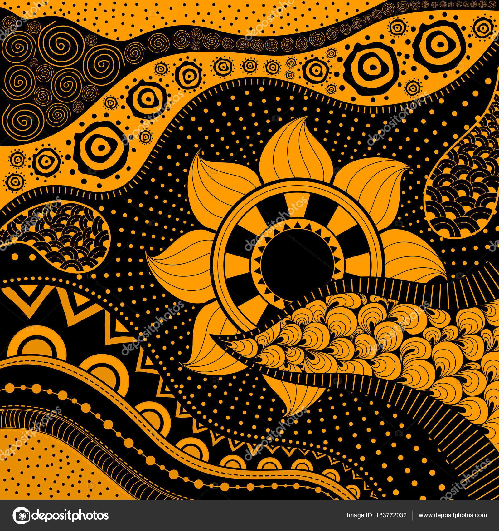Ethno Muster handgezeichnete ethno muster stammes hintergrund einsetzbar für