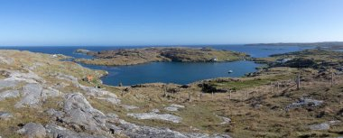 Panorama of Manish (Manais) Natural Harbour and Bay of Harris