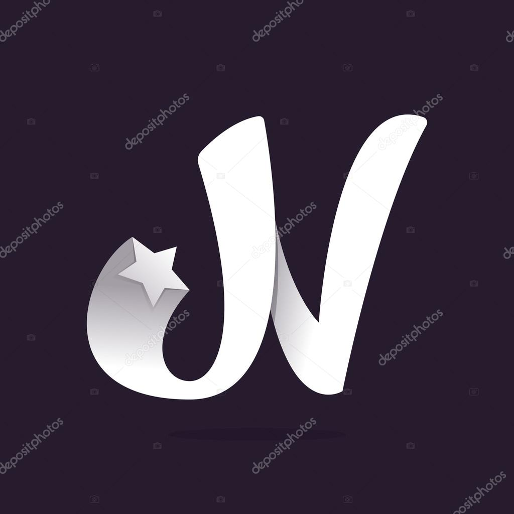 4b5cedd47 Logotipo de letra N com estrela — Vetor de Stock © kaer dstock ...