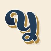 Fényképek Y betű logó vintage stílusban