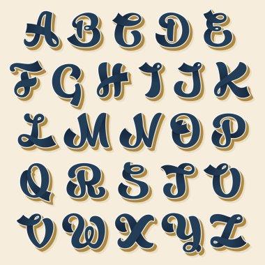 Alphabet in vintage style.