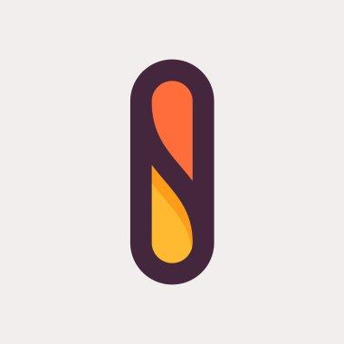 Letter I colorful logo. Flat style design.