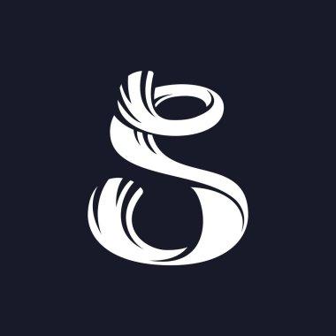 S letter logo script typeface.