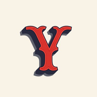 Y letter logo in vintage western style.