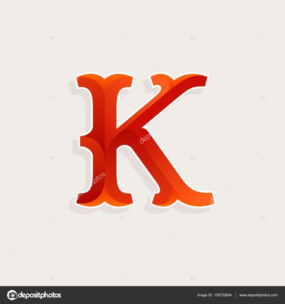 K Letter Logo In Elegant Circus Faceted Style Stockvektor