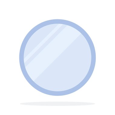 Round pocket mirror vector flat isolated