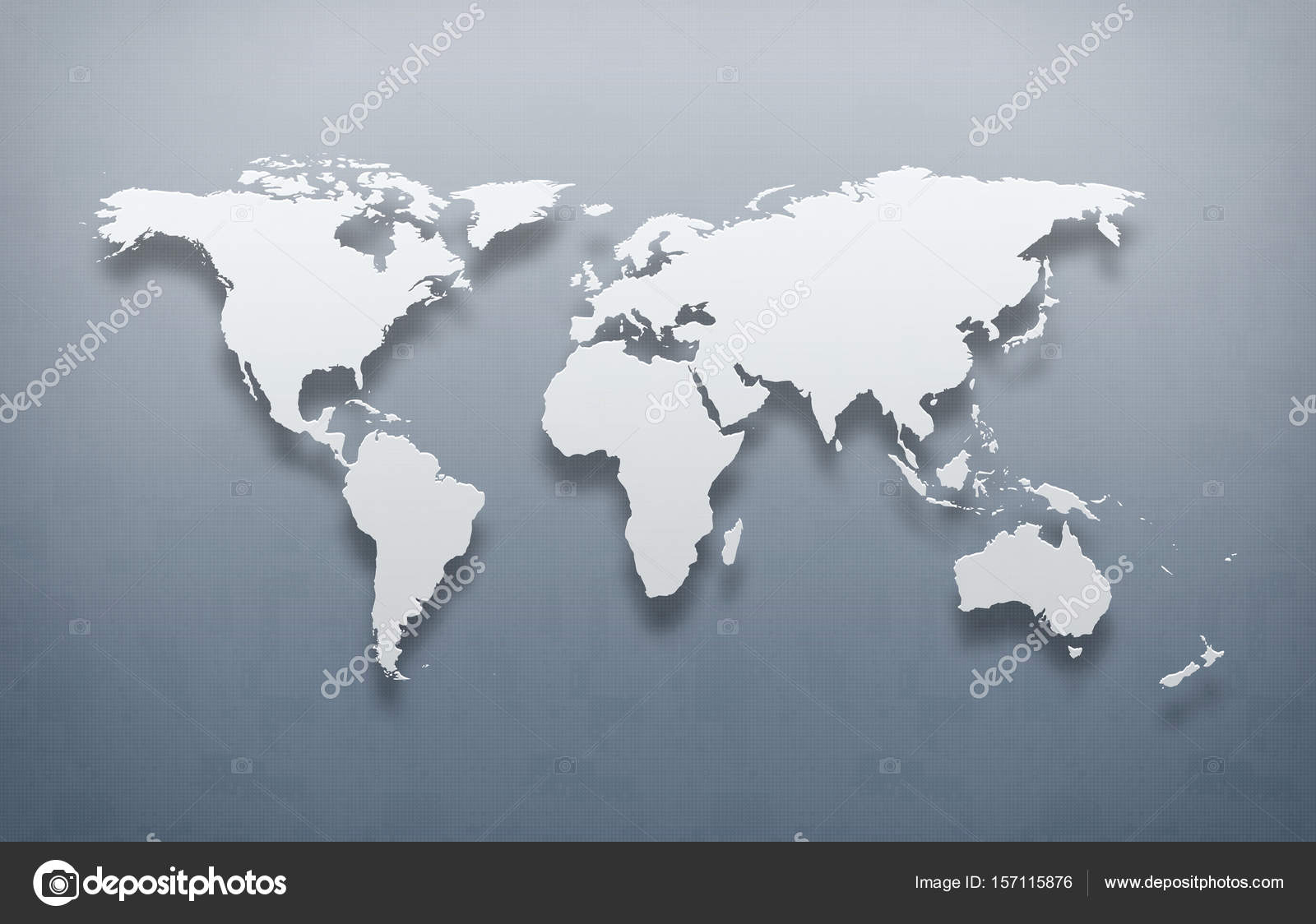 Digital World Map With Vintage Effect, High Resolution U2014 Photo By  Designworkz
