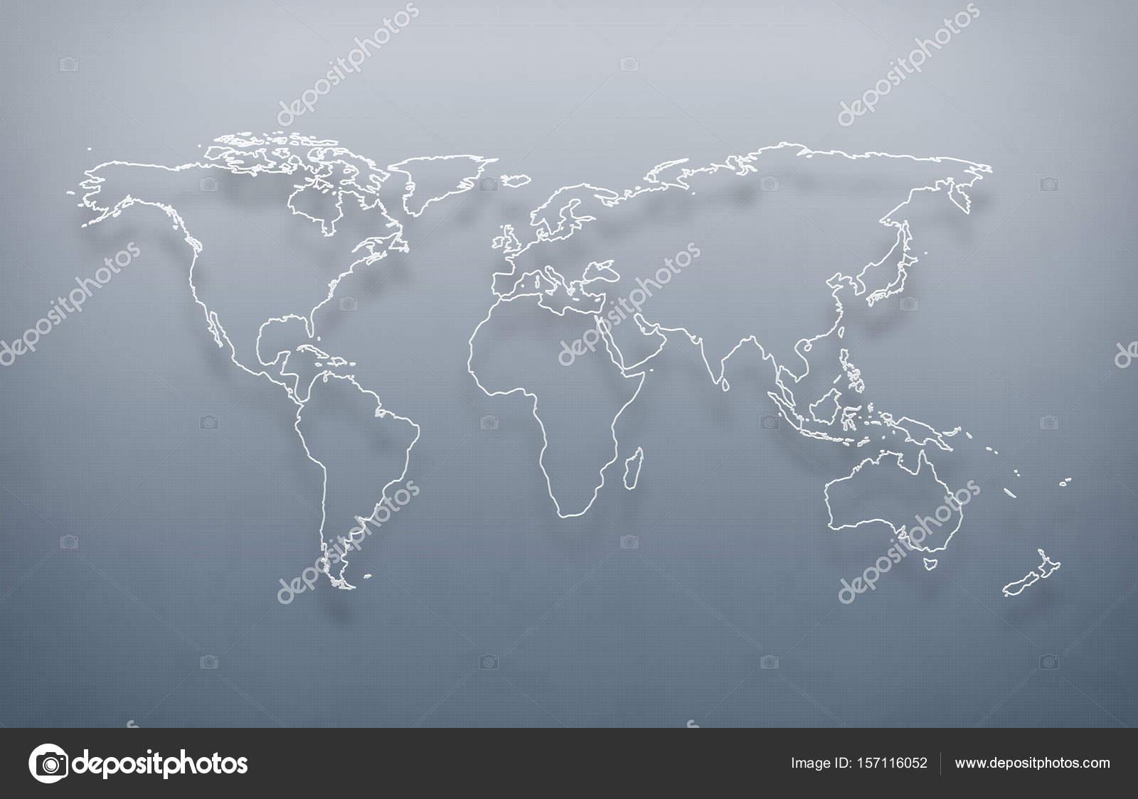World map, digital world map, high tech map, futuristic — Stock