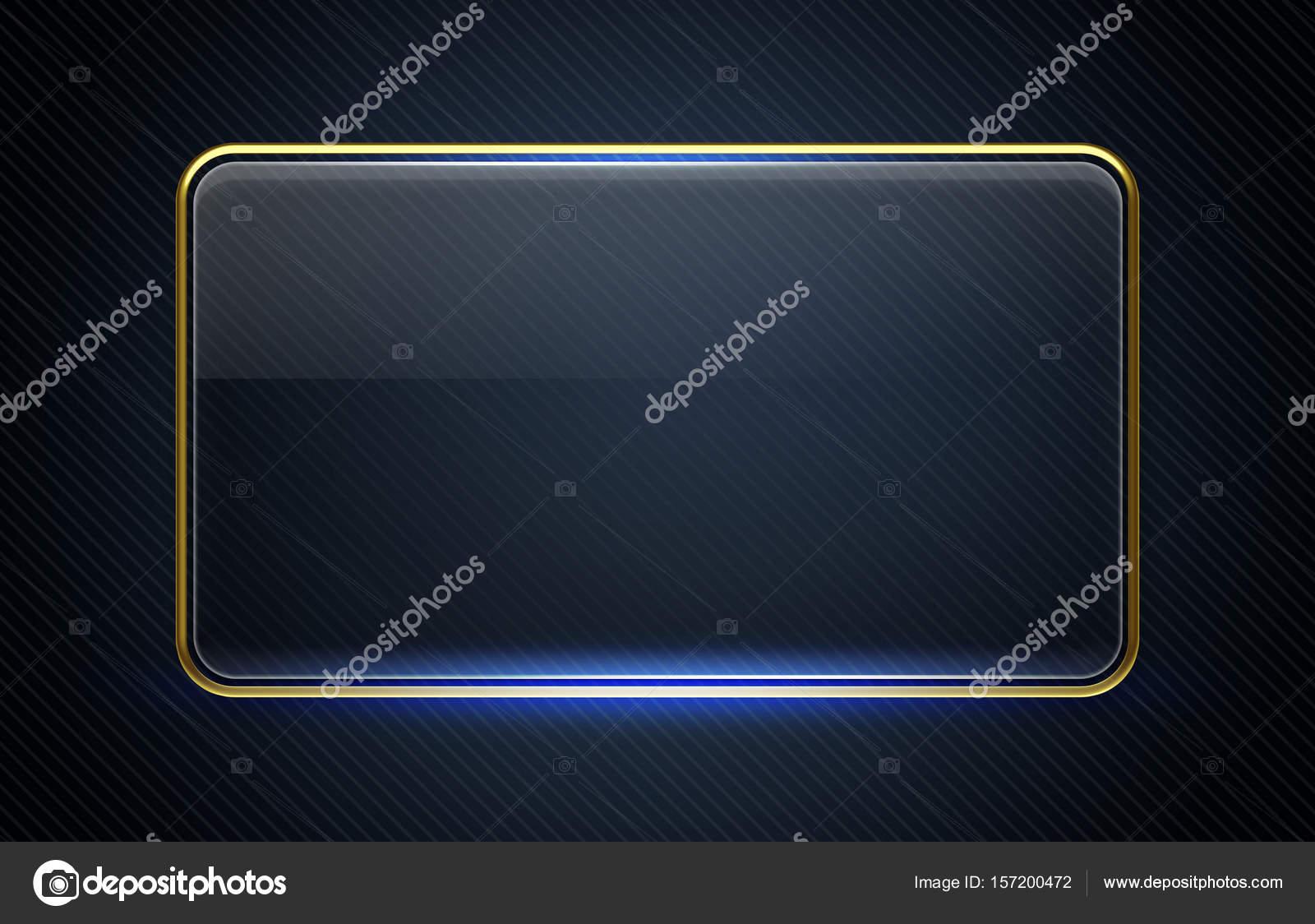 glänzende rechteckige Rahmen mit dunklem Hintergrund — Stockfoto ...