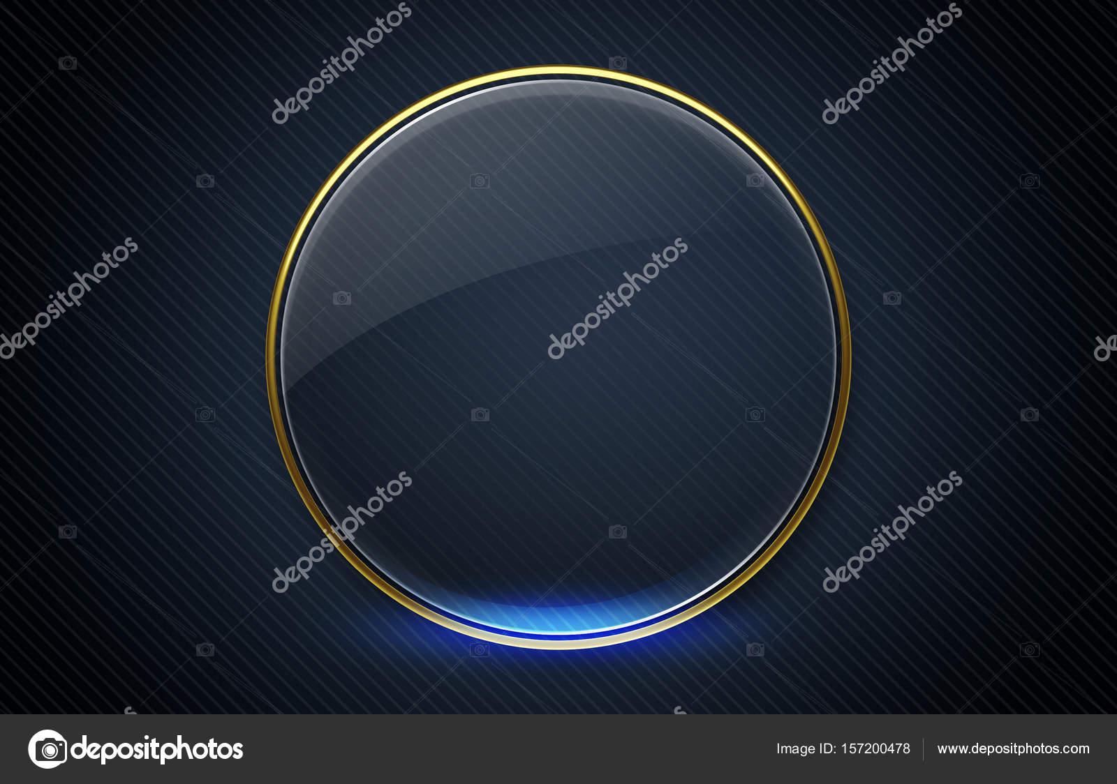 glänzende runden Rahmen mit dunklem Hintergrund — Stockfoto ...