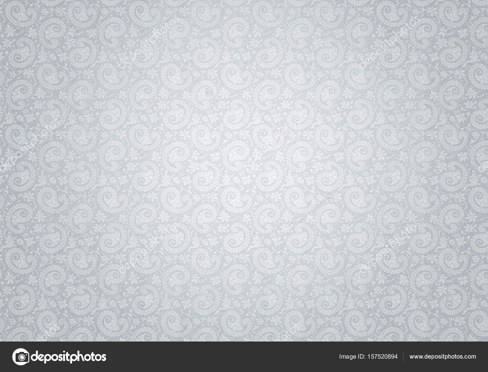 White Vintage Background With Pattern Stock Photo
