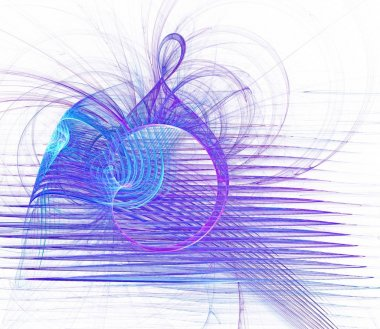 Abstract fractal white background