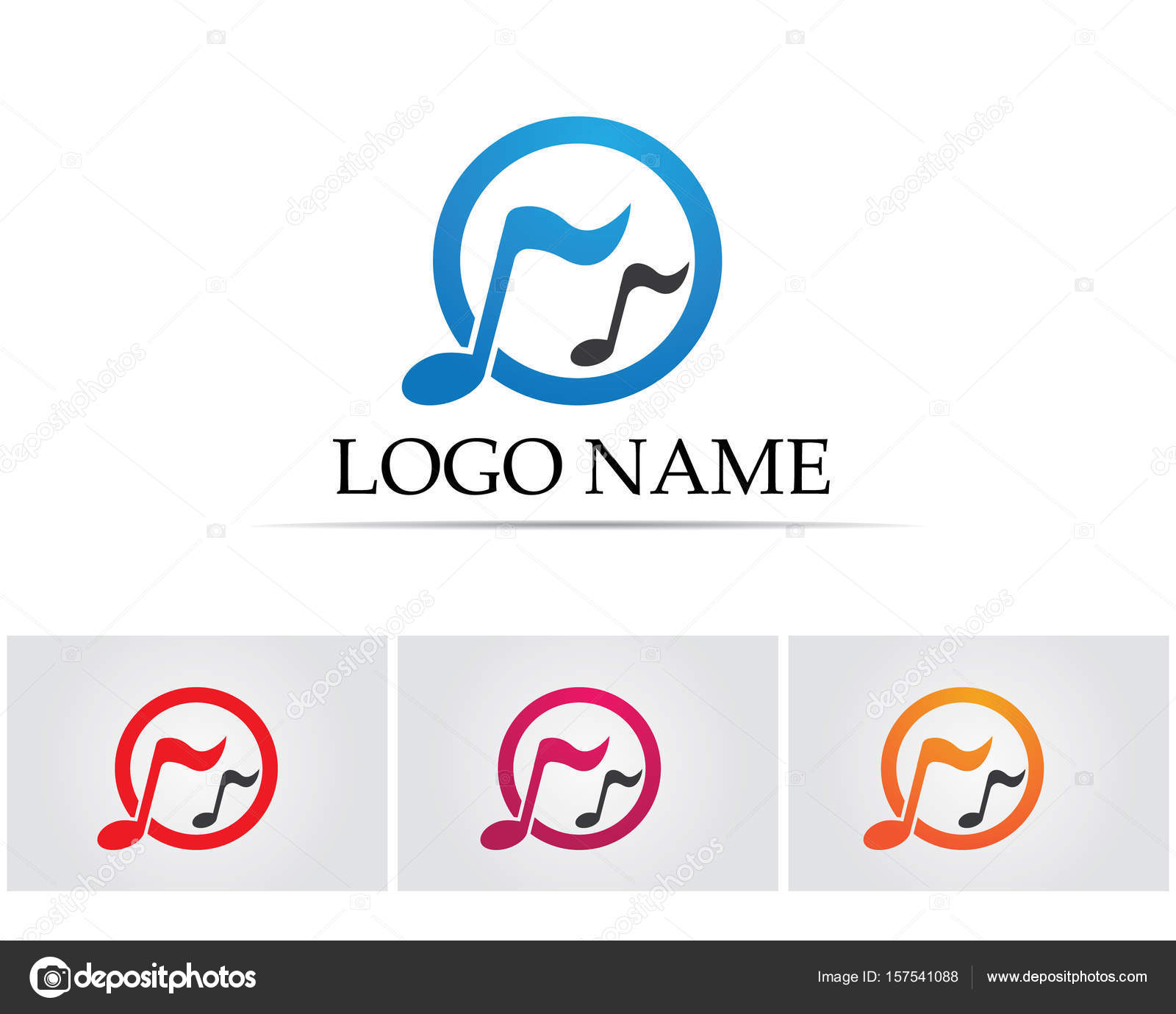 Music note symbols logo and icons template stock vector music note symbols logo and icons template stock vector 157541088 biocorpaavc