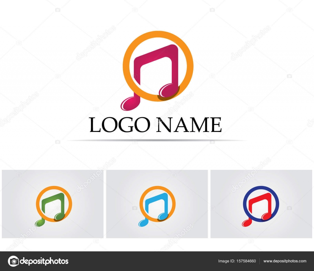 Music Note Symbols Logo And Icons Template Stock Vector