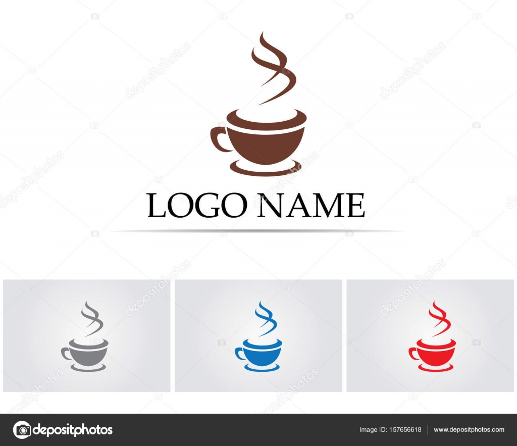 Kaffeetasse Logo Vorlage Vektor Icon-design — Stockvektor ...