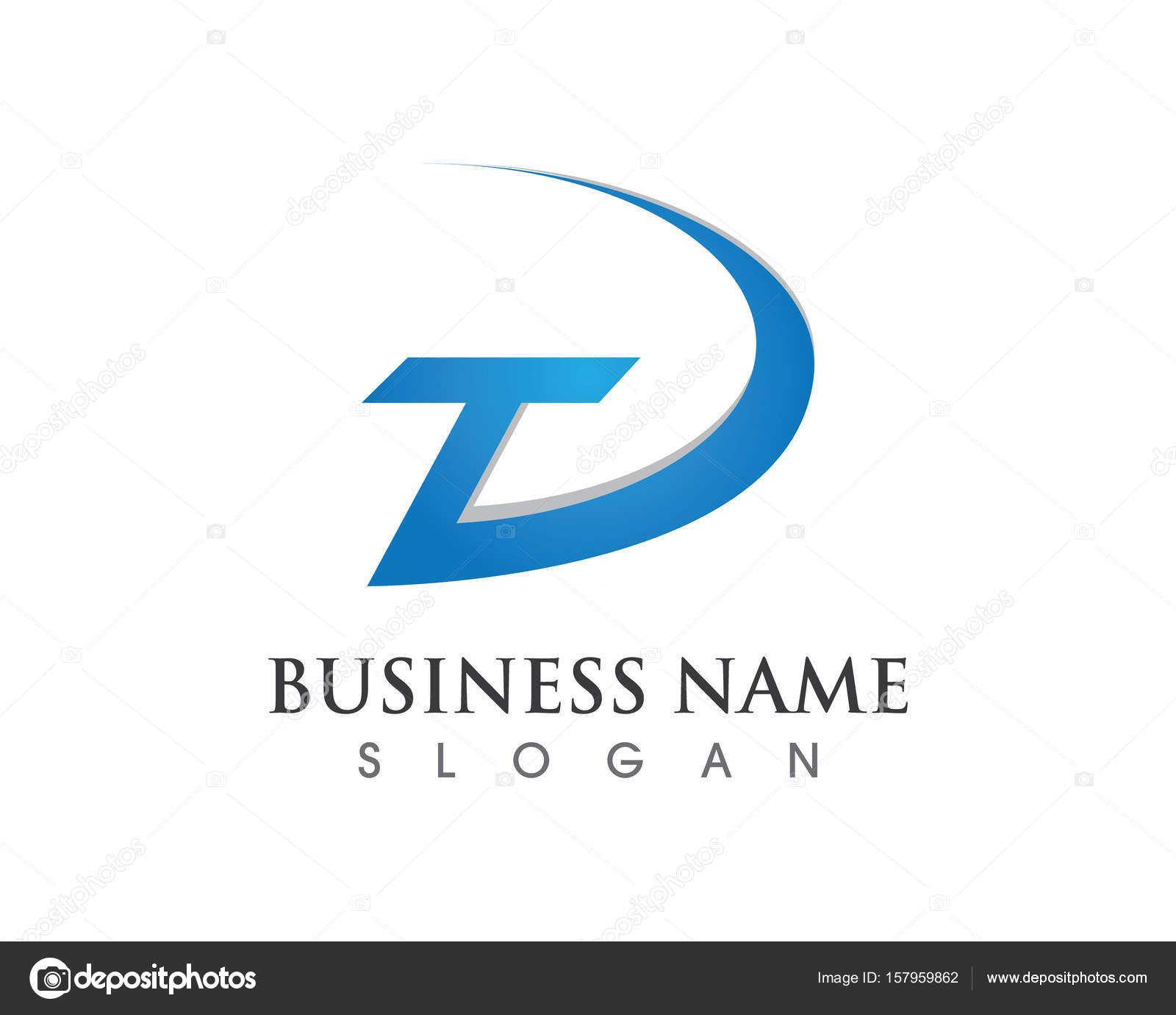 a67ef21f6 Business corporate letter T logo design vector– stock illustration