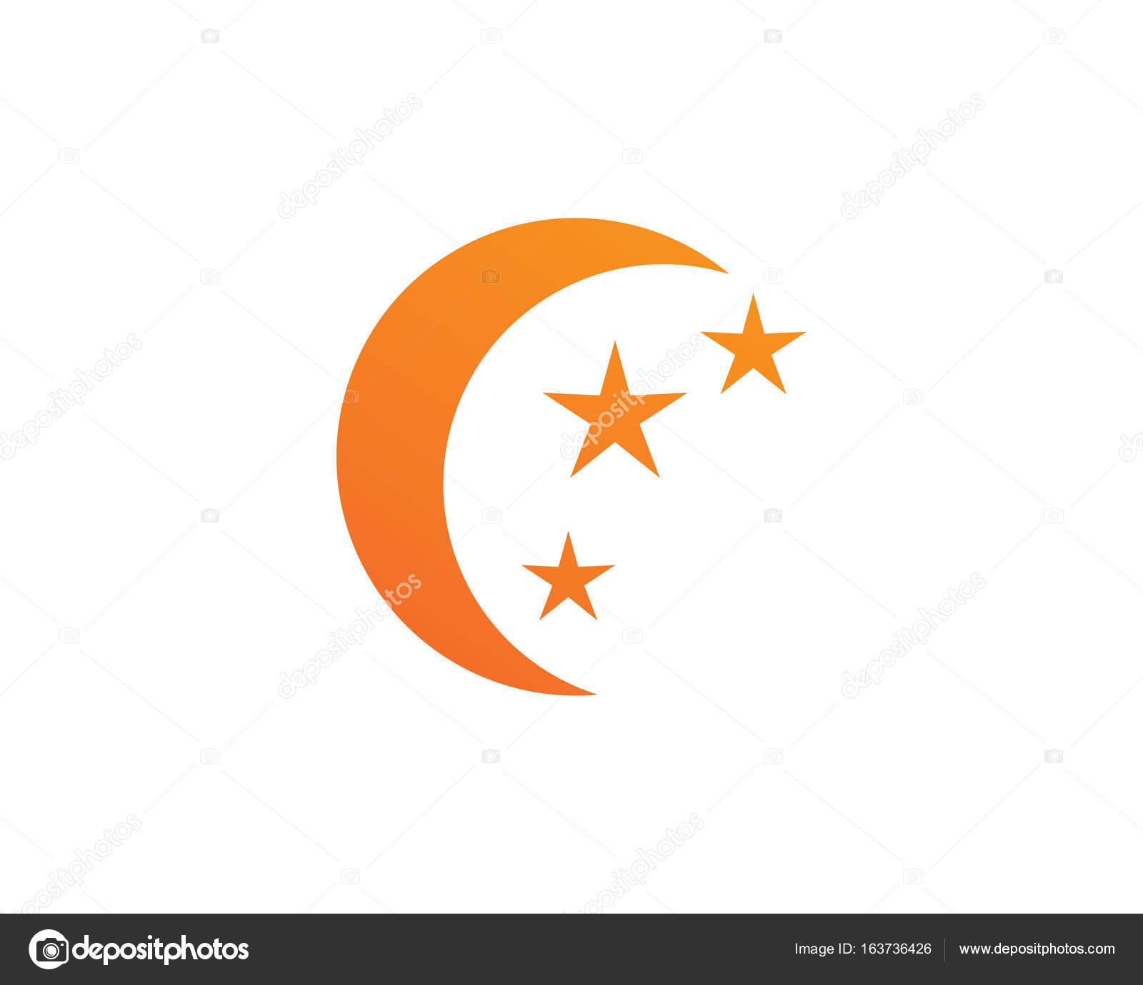 Sterne und Mond Logo Vorlage — Stockvektor © Hatigraphic #163736426