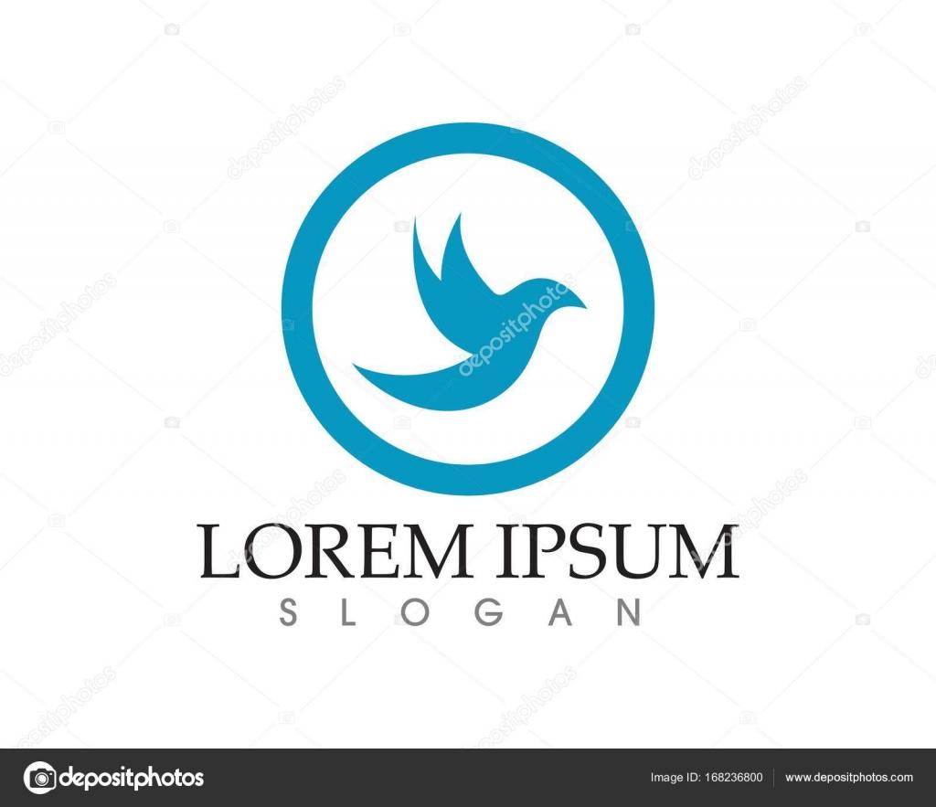 Streszczenie Wektor Znak Ptak W Locie Ikony Szablon Grafika