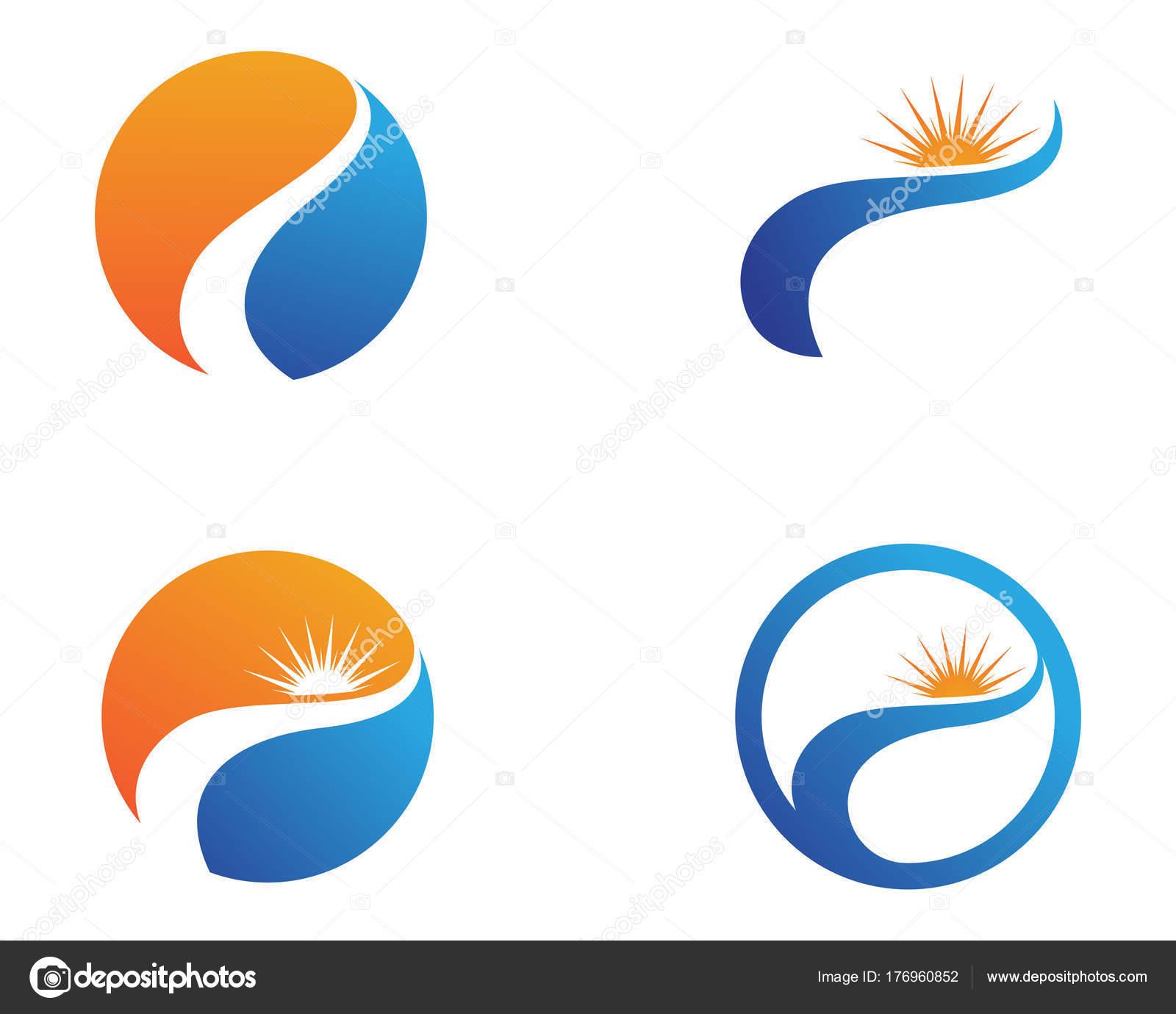 Sun Logo And Symbols Star Icon Web Vector Stock Vector