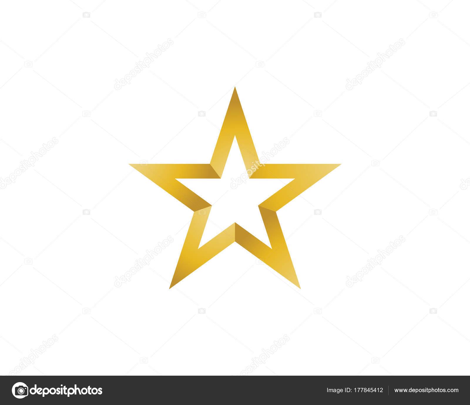 Logos und Symbole Symbole Schablone Sterne — Stockvektor ...