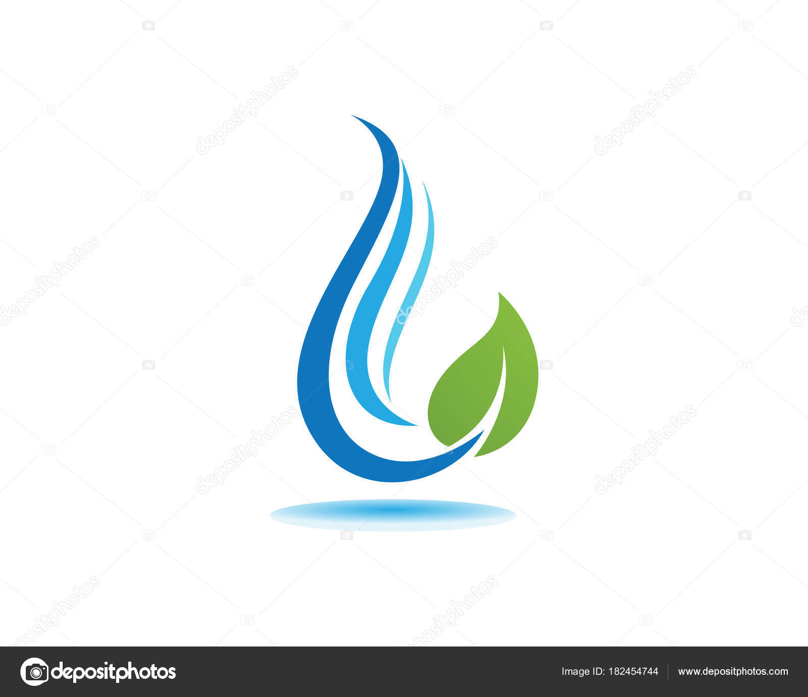 Goutte D Eau Logo Template Vector Illustration Design Image