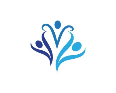 Community people logo and symbols icons
