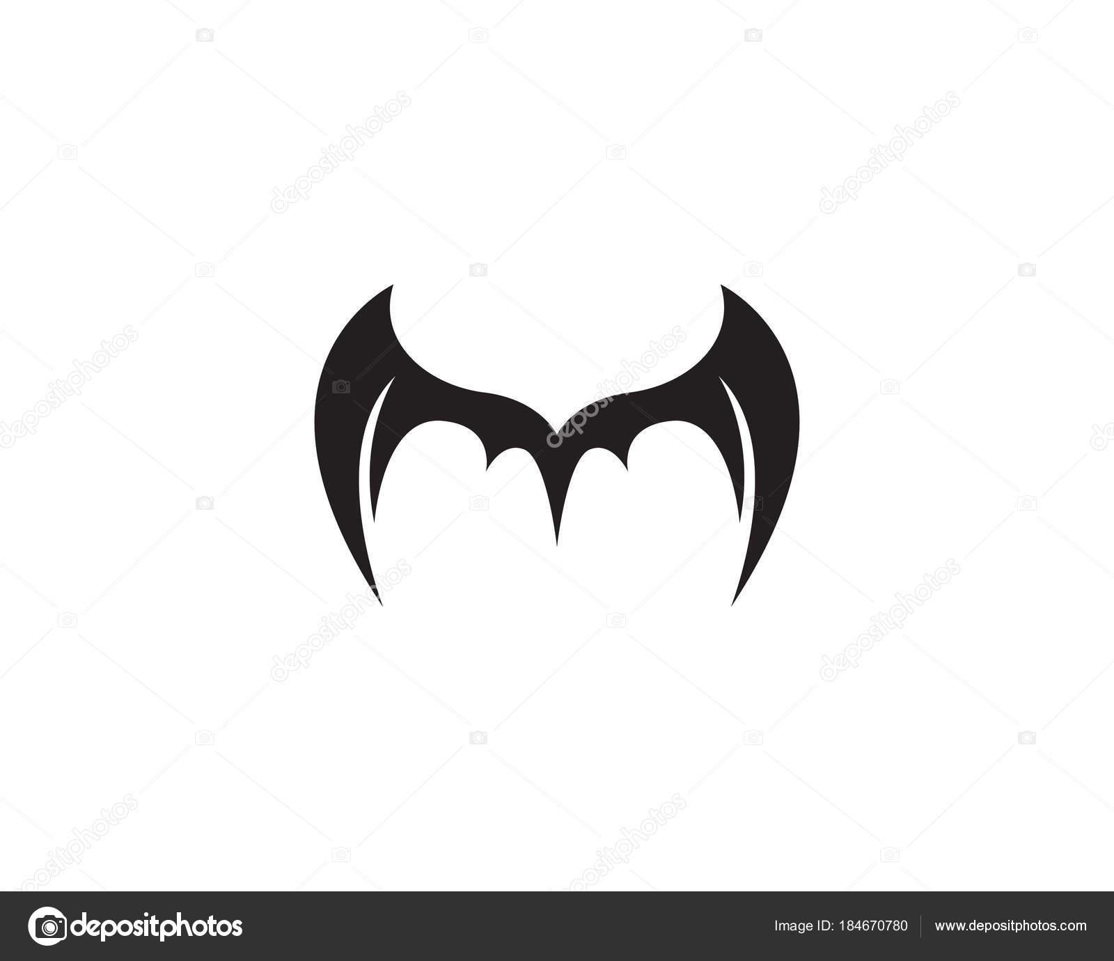 Fledermaus Flügel Logo und Symbole Vorlage Symbole — Stockvektor ...