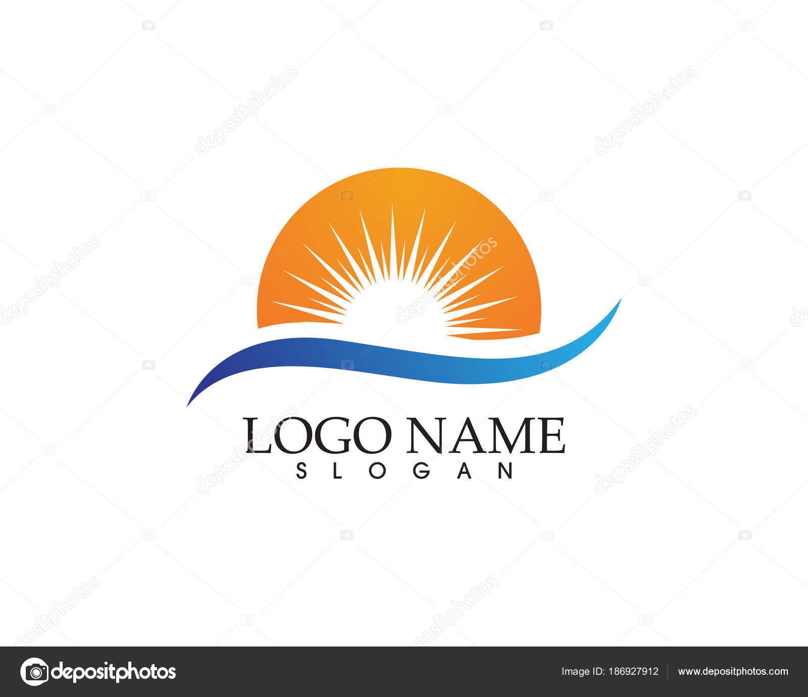 Sun Logo And Symbols Star Icon Web Vector Stock Vector