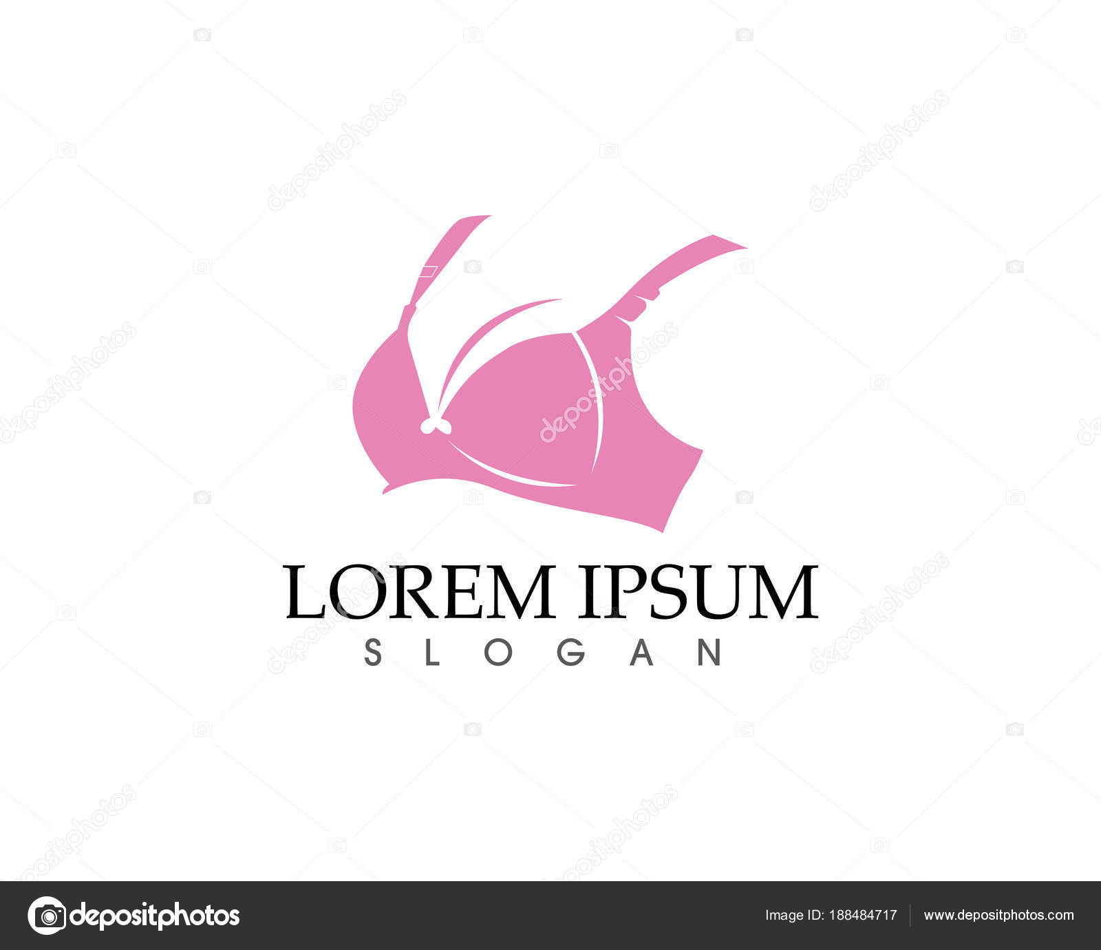 4d994aaaac14b Set of different push up bras isolated over white background — Vector by ...