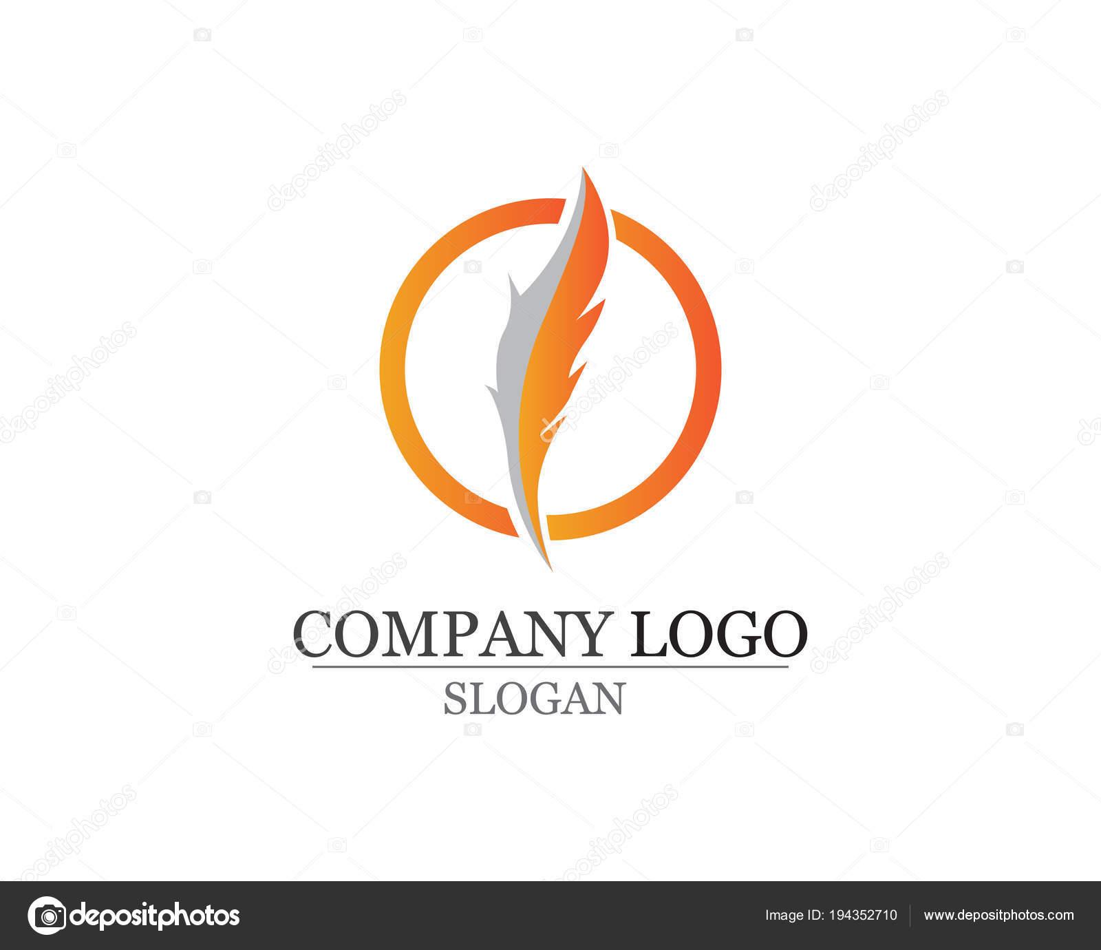 Pluma de la pluma escribir vectores de iconos de signo logo ...