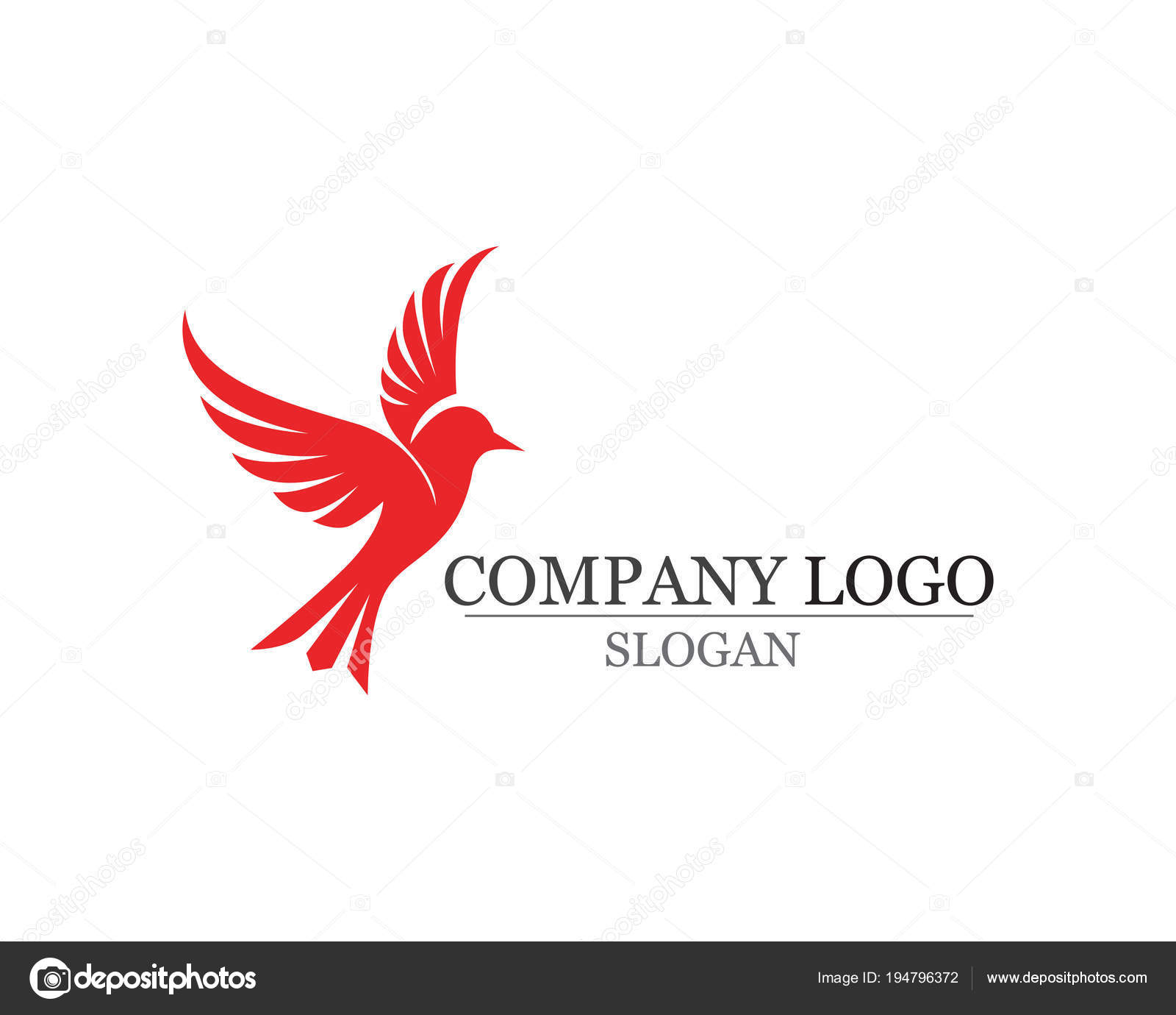 Skrzydło Ptaka Znak Streszczenie Szablon Ikony Grafika Wektorowa