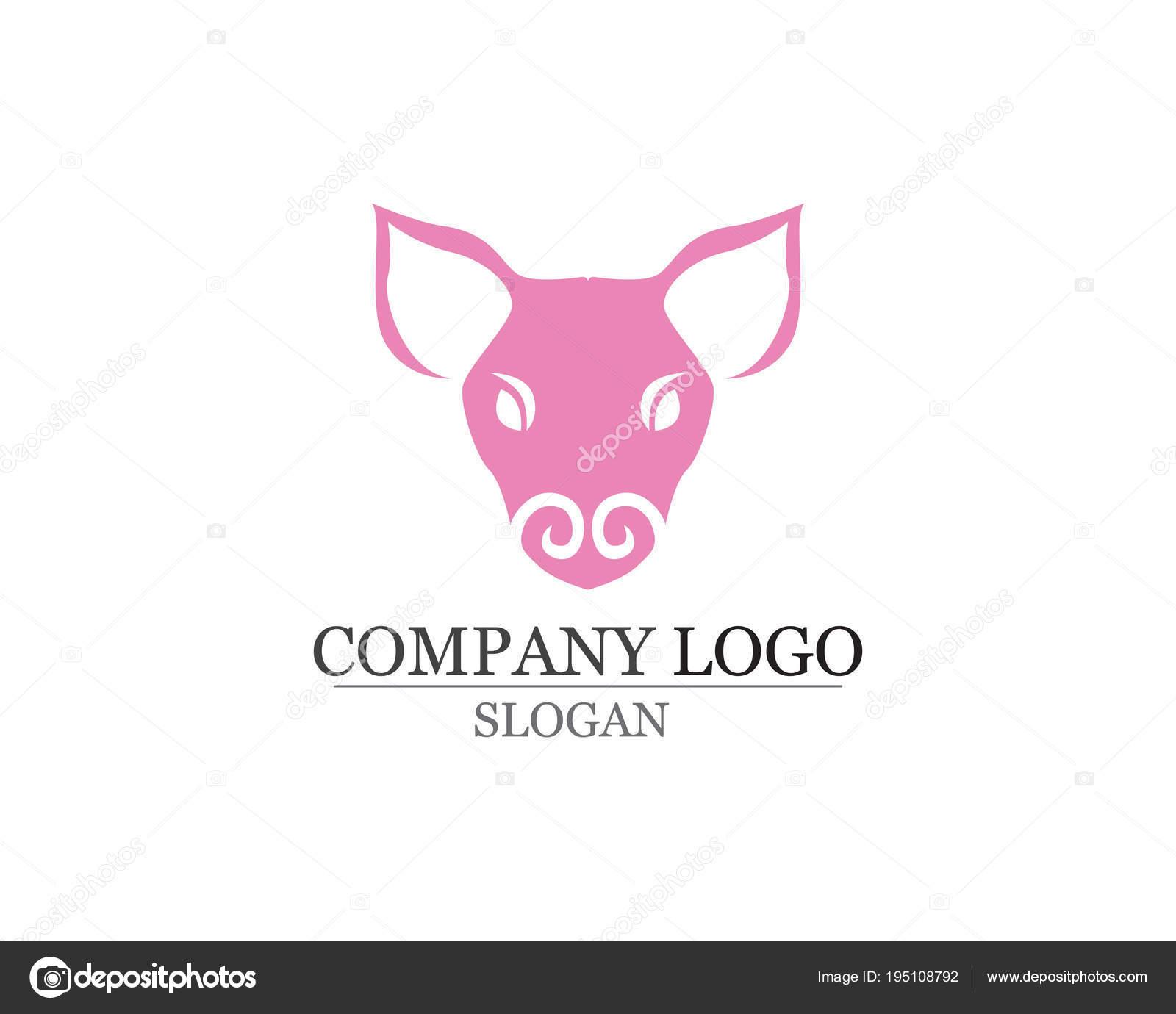 Plantilla de vector de cerdo cabeza Logo diseño. Cerdo Bbq Grill ...