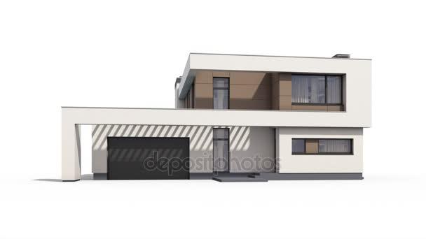 3D-Darstellung des modernen gemütlichen Hauses
