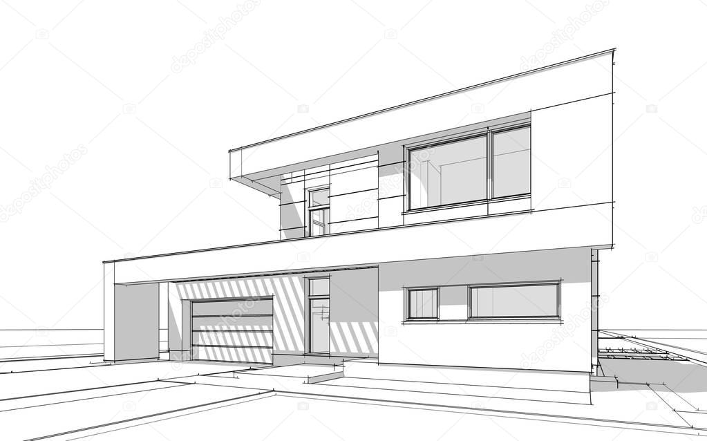 Μαύρο σπίτι φτιαγμένο