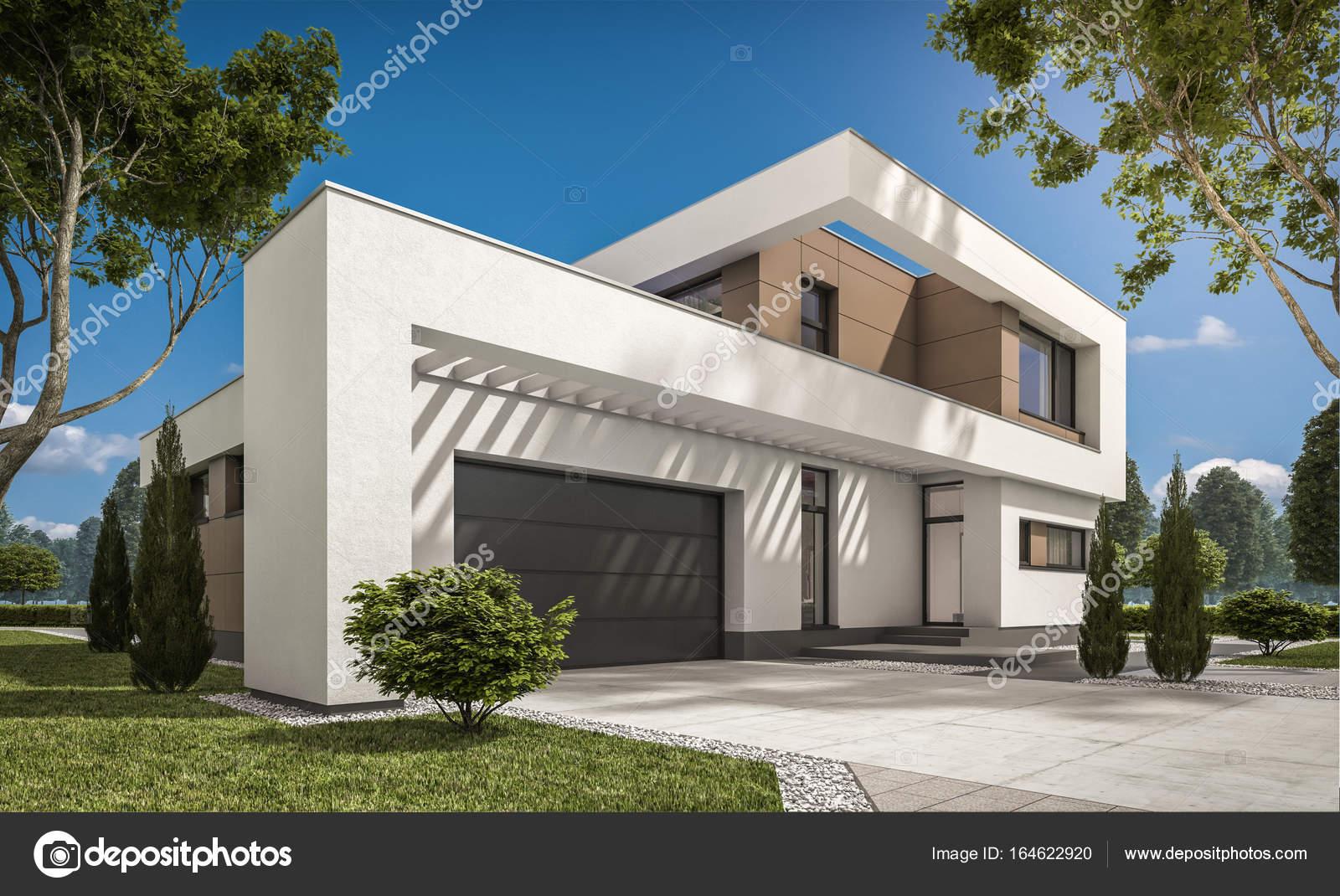 rendering 3d della casa moderna foto stock korisbo