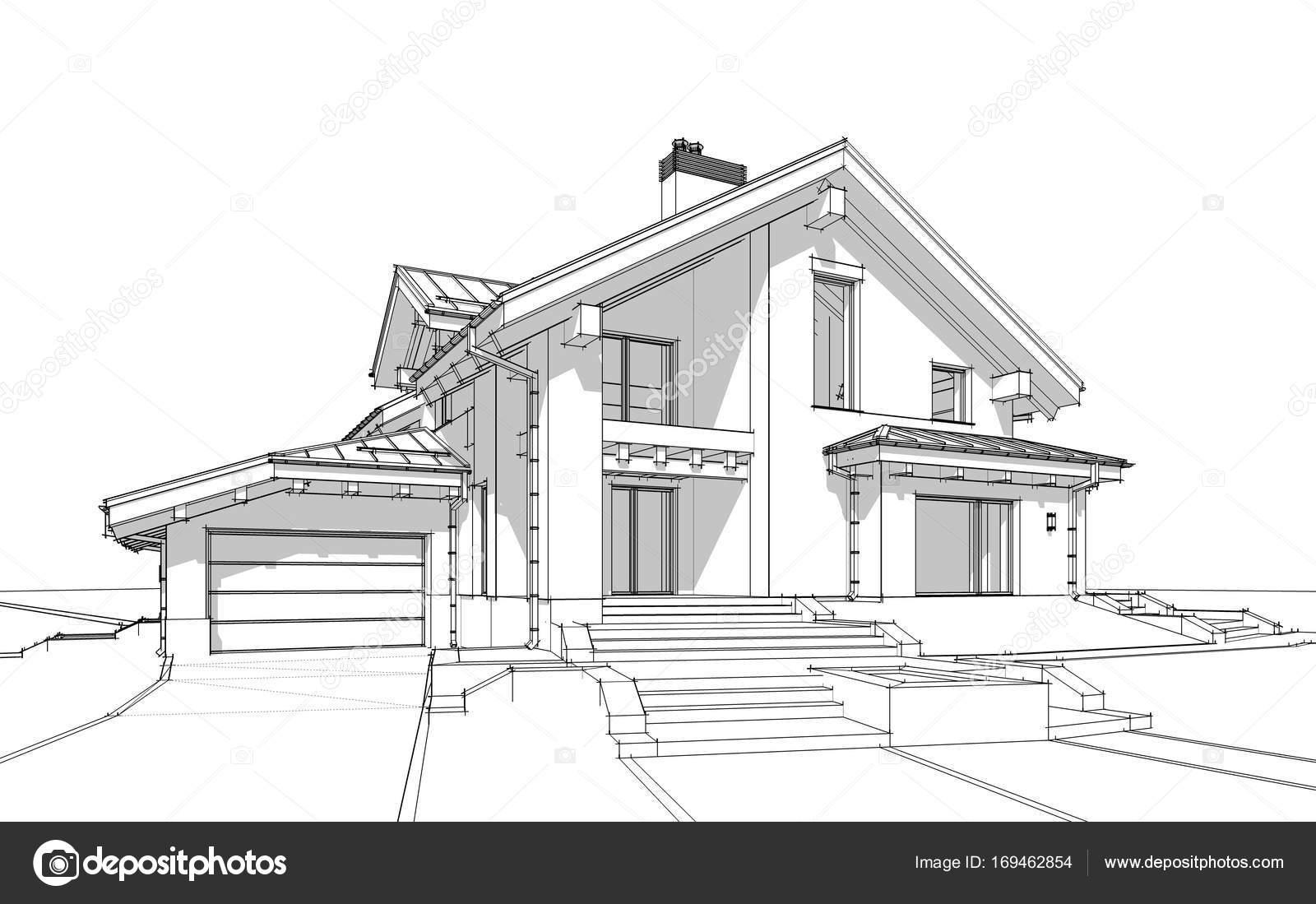 Dibujos Casas Modernas A Lapiz 3d Render Sketch De Moderna