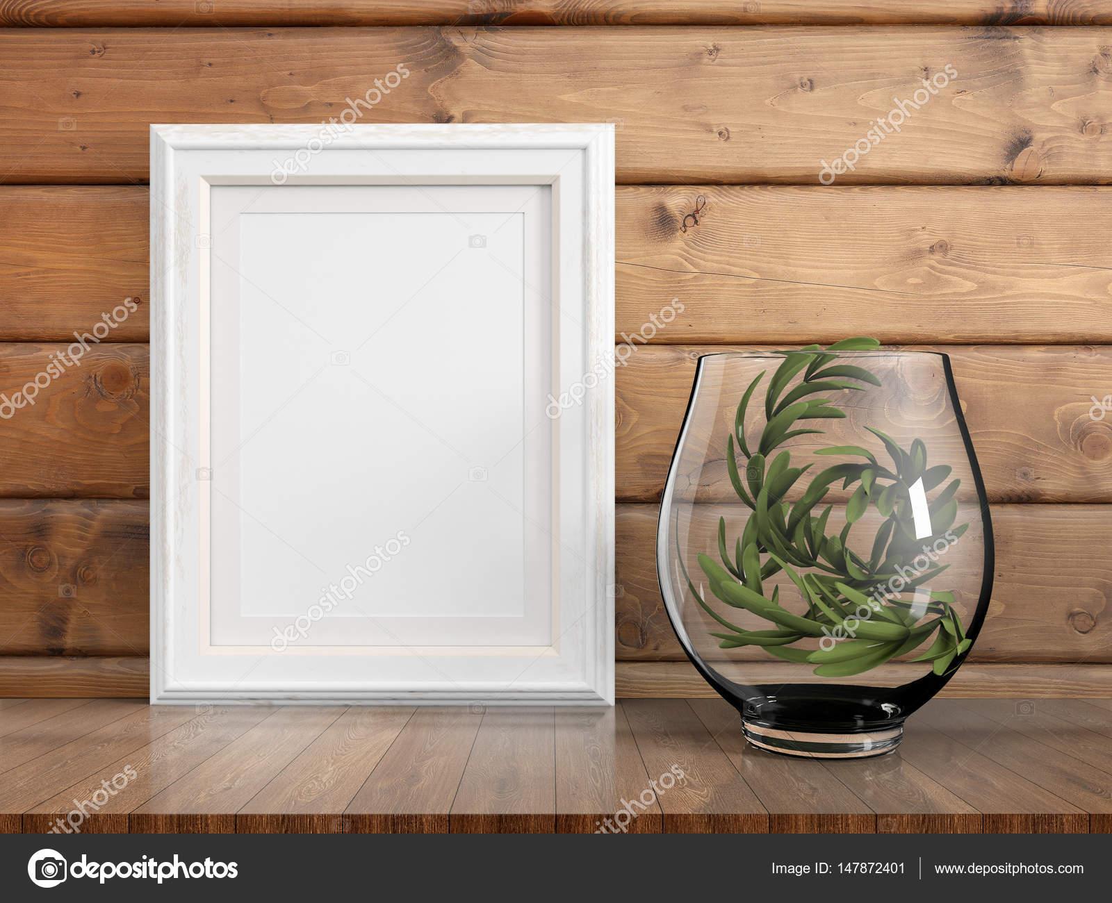 Mock-up leeren Rahmen. 3D-Rendering — Stockfoto © elsar77 #147872401