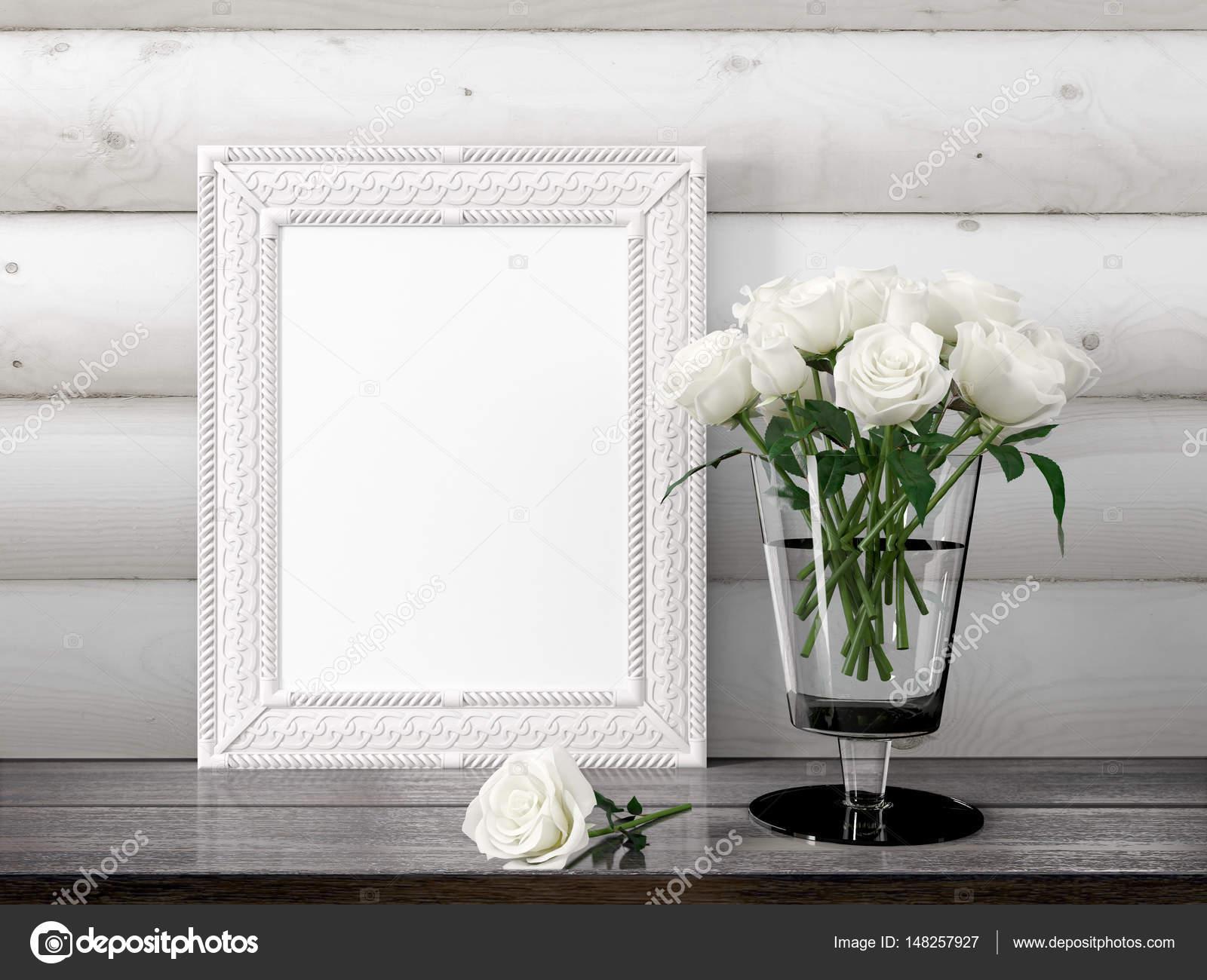 Mock-up leeren Rahmen. 3D-Rendering — Stockfoto © elsar77 #148257927