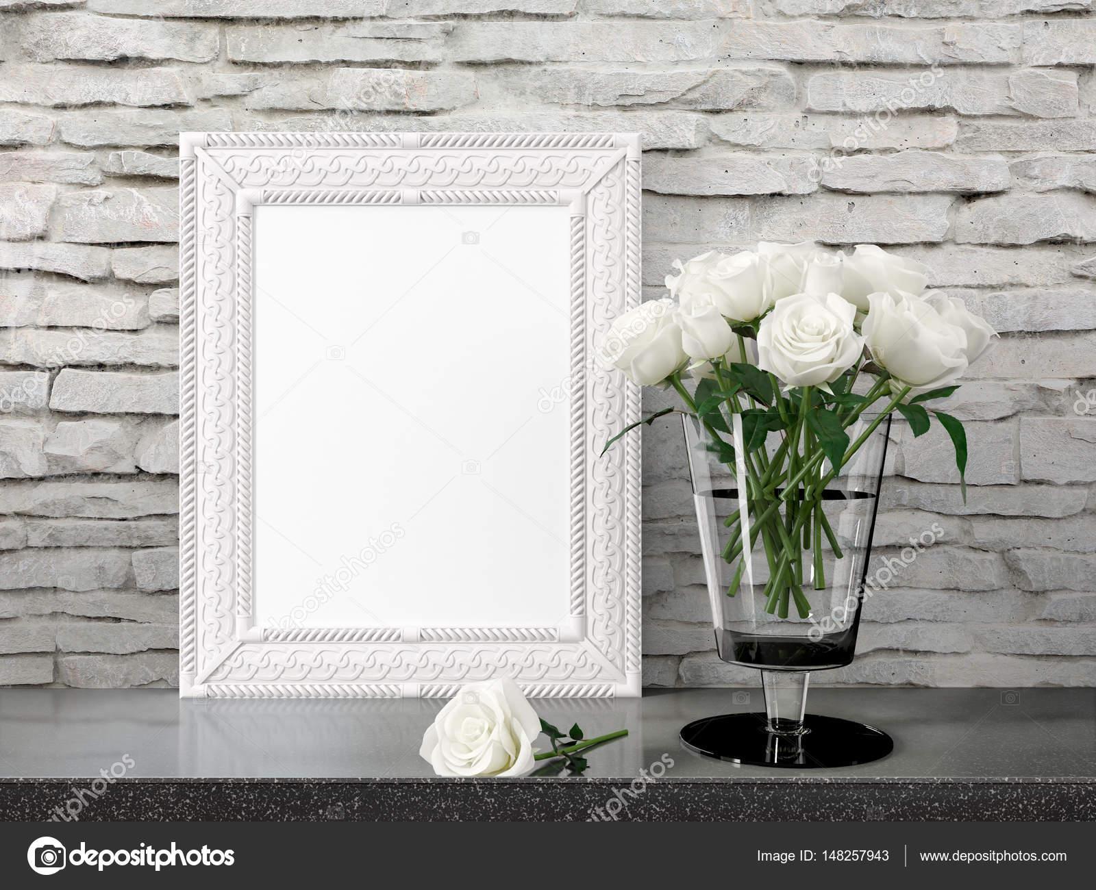 Mock-up leeren Rahmen. 3D-Rendering — Stockfoto © elsar77 #148257943