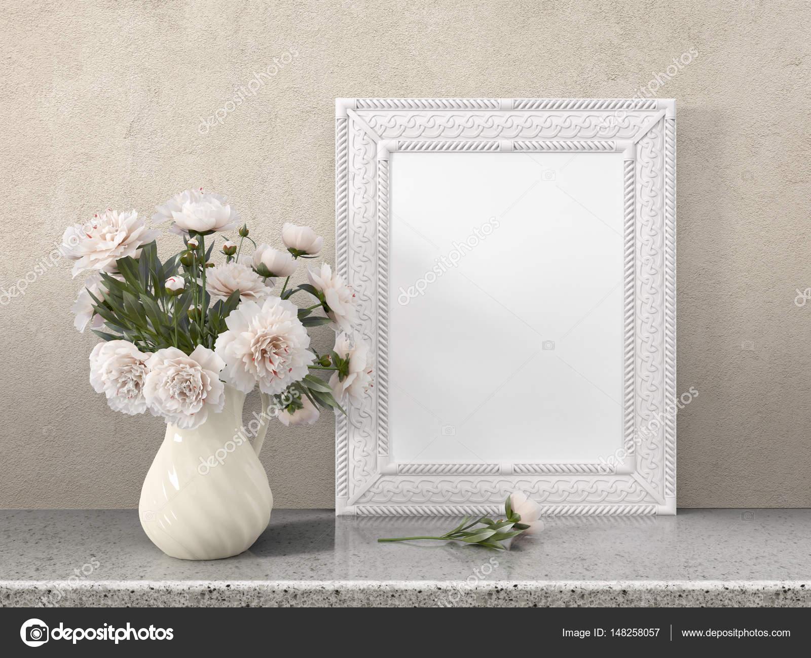 Mock-up leeren Rahmen. 3D-Rendering — Stockfoto © elsar77 #148258057