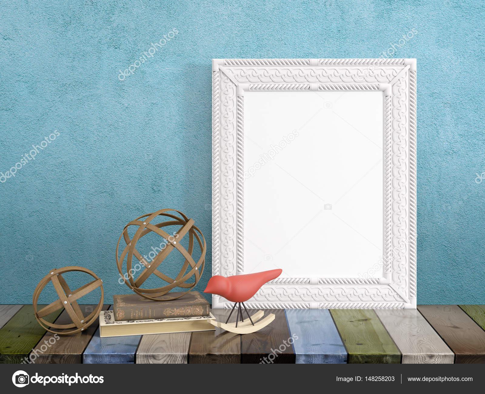 Mock-up leeren Rahmen. 3D-Rendering — Stockfoto © elsar77 #148258203
