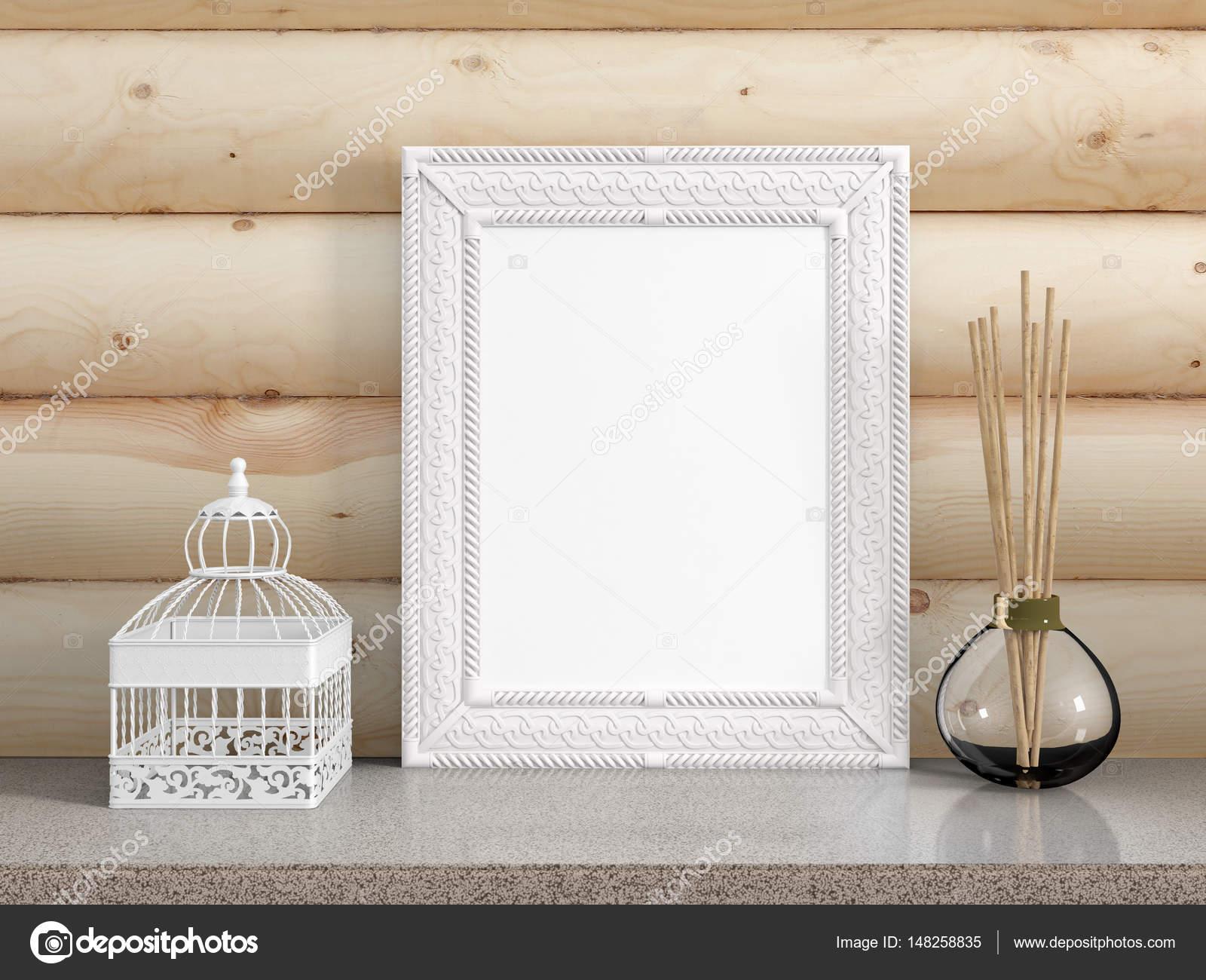 Mock-up leeren Rahmen. 3D-Rendering — Stockfoto © elsar77 #148258835