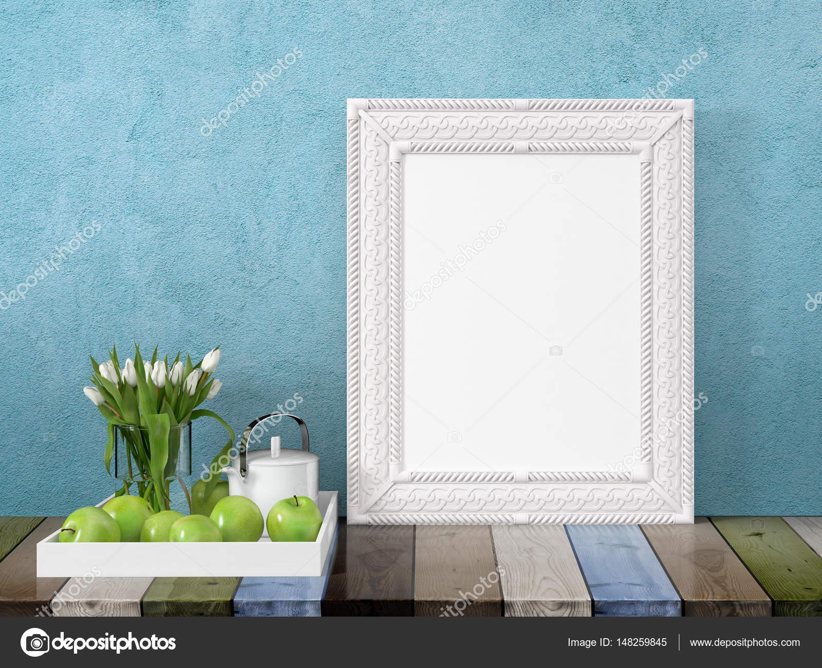 Mock-up leeren Rahmen. 3D-Rendering — Stockfoto © elsar77 #148259845