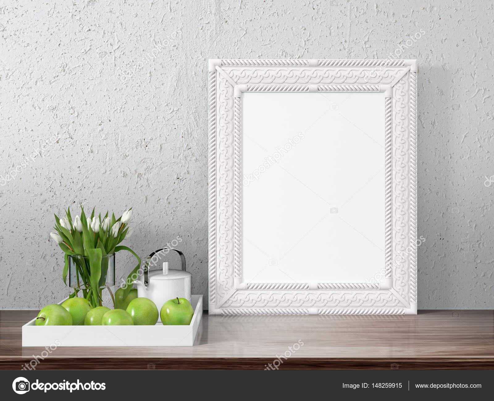 Mock-up leeren Rahmen. 3D-Rendering — Stockfoto © elsar77 #148259915